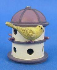 Lenox Miniature Birdhouse Thimble Yellow Warbler Bird