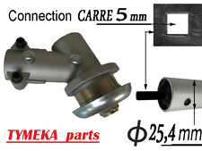 debroussailleuse tete  renvoi d angle  pour tube 25,4 mm fixation CARRE 5 mm