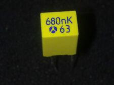 LOT DE 5 CONDENSATEURS POLYESTER MKT - 680nF - 63V