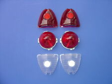 1953-53 CHEVROLET BEL AIR & 210 & 150 TAILLIGHT & BACKUP LENS KIT-6 PIECES-NEW