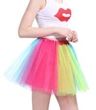 Women Girl Adult Hard Organza Tutu Platter Ballet Skirt Dance Party 3-Layer New