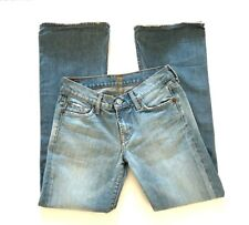 Seven All Mankind Boot Cut Jeans Size 26 x 29 Faded Light Wash Denim Pants
