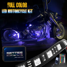 New listing 14Pcs Motorcycle Rgb Led Flexible Neon Under Glow Light Strip Kit Music Control