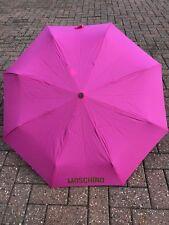 MOSCHINO ombrello, rosa brillante con scritta in oro, ottime condizioni, Borsa a mano Taglia