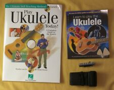 Lot Learn to Play Ukulele 2 Book Cd Capo Picks Strap
