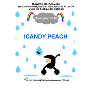 RAINCOVER by Koodee designed to fit ICANDY PEACH SEAT UNIT Made in the UK BNIP