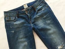 Ladies RIVER ISLAND Slouch Boyfriend Distressed Jeans Size 12 R Great Cond!