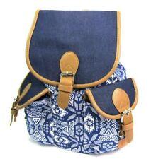 Bolsos de mujer mochilas azules de lona