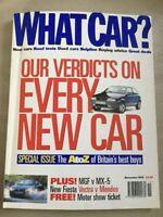 What Car? Magazine - November 1995 - Vectra  Mondeo  Laguna MGF  Barchetta  MX-5