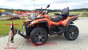 ATV Schneeschild CFMoto CForce 850 CForce 1000 Profi mit Spindelmotor.