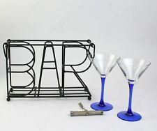 BAR / WINE / BEER Storage Rack. Black Metal Counter / Table Top Display Holder.