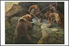 Neanderthals Fighting The Cave Bear, By Aleksey Komarov, Darwin Museum, Moscow
