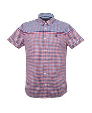 New Duck And Cover Gibson Vermillion Short Sleeve Casual Shirt Designer Smart
