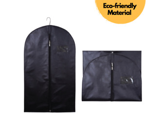"""40"""" Black Suit Cover Clothes Bag Breathable Garment Travel Zipped Clothes Covers"""