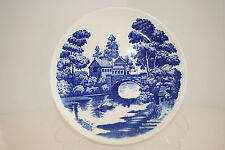 Vintage Nasco Lakeview 9-3/8 inches Blue and White Dinner Plate from Japan