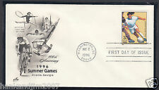 Summer Olympics 1996 Usps First Day Cover & Soccer 32c Commemorative Stamp