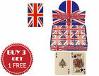 Union Jack Flag Poker Playing Cards Full Deck Buy 3 Get 1