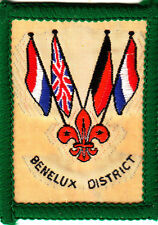 Boy Scout Badge Ext BENELUX DISTRICT British Scts W Europe