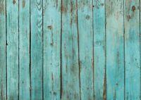 A1 Rustic Blue Wood Poster Art Print 60 x 90cm 180gsm Beach Decking Gift #15014