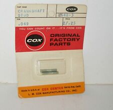 Vtg (2) Cox Crankshaft Stud Engine .049 Airplane 049 Part 648-3 NOS ~~CLOSE OUT~