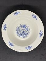 "Imperial Blue Dresden by Sheffield Laughlin 9"" Serving Bowl Vegetable Dish EUC"