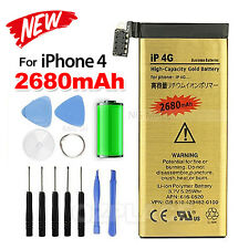 2680mAh Gold For Apple iPhone 4 Battery Replacement Tools Kit Screwdrivers AU