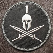 SPARTAN ARMY US MILITARY USA BADGE BLACK OPS SWAT VELCRO® BRAND FASTENER PATCH