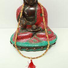 Sandelholz Mala Gebetskette Indien Buddhismus Om Kette Buddha 8 mm 70cm