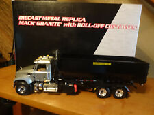 First Gear-Mack Granite With Roll-Off Container 1:34 #10-4055 Silver / Black