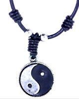 Vintage retro style yinyang yin yang sign pendant necklace