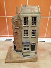 Clay Miniature House Signed