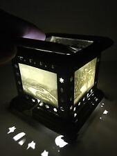Rare Beautiful Antique Lithophane 4 Panel sided Oil Lamp / Lantern