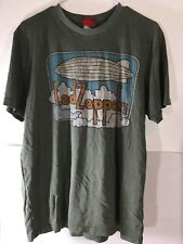 Led Zeppelin Vintage T Shirt Bravado Clouds Blimp Hindenburg Sz XL Green Soft