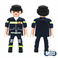 playmobil® Feuerwehr Figur: Feuerwehrmann | Firefighter | schwarz | Rettung