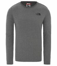 The North Face Men's Long Sleeve Shirt Red Box T-Shirt