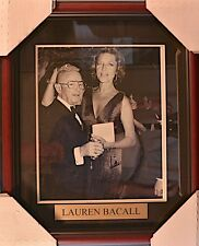 LAUREN BACALL (Humphrey Bogart's Wife) Hand Signed Mag.Page  Framed Photo • COA