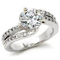 Bague luxe argent rhodié femme mode serti zircon diamant perle nacre toi et moi
