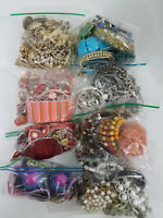 6.25lbs VTG-Now Jewelry Lot Earrings Necklaces Bracelets Bangles Beads Wearable