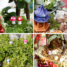 10X Cute Mini Mushroom Garden Ornament Miniature Plant Pots Fairy Dollhouse cool