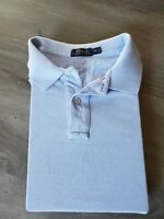 Polo Ralph Lauren Mens Pima Cotton Shirt 3XLT Tall Light Blue EUC