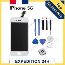 ECRAN IPHONE 5C BLANC VITRE TACTILE + LCD ORIGINAL RETINA SUR CHASSIS + OUTILS