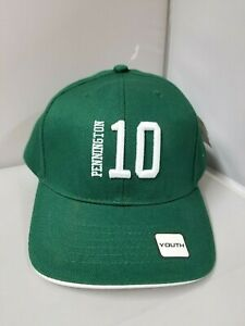 New York Jets Youth/Children Unisex Pennington 10 Green Curved Brim Cap/Hat OSFM