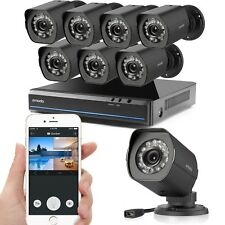 Zmodo 1080p 8CH HDMI NVR 1.0 Megapixel Video Home Security Camera System No HDD
