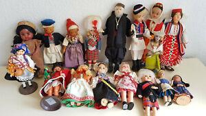 Trachtenpuppen Puppen Konvolut 60er-80er