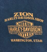Harley Davidson Small Black T Shirt Zion Utah Four Corners