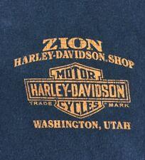 Harley Davidson Small Black T Shirt Zion Utah Four Corners
