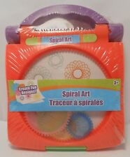 Spirograph Spiral Art ORANGE Children's Craft Set Carry Case Travel Size S2