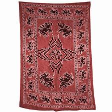 Tagesdecke Single Elefanten rot 200 x 140cm Überwurf Bettüberwurf Vorhang