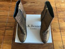LK Bennett leather gold bronze boots UK 9 42 boxed very good condition