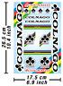 Colnago Decals Aufkleber Fahrrad Vinyl Grafik Autokollant Aufkleber Adesivi /633